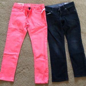 Girls Gap super skinny jeans.